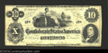 Confederate Notes:1862 Issues, 1862 $10 Ceres Reclining on Cotton Bales; R.M.T. Hunter on righ...