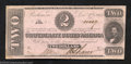 Confederate Notes:1862 Issues, 1862 $2 Judah P. Benjamin, T-54, Crisp Uncirculated. This is ...