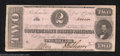 Confederate Notes:1862 Issues, 1862 $2 Judah P. Benjamin, T-54, Very Fine-Extremely Fine. ...