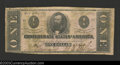 Confederate Notes:1862 Issues, 1862 $1 Clement C. Clay, T-55, Fine. ...