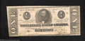 Confederate Notes:1863 Issues, 1863 $1 Clement C. Clay, T-62, Extremely Fine. Clement Clay's ...