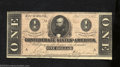 Confederate Notes:1864 Issues, 1864 $1 Clement C. Clay, T-71, VF-XF. Very attractive for the ...