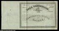 Confederate Notes:Group Lots, Ball T-174 Confederate Call Certificate