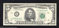 Error Notes:Ink Smears, 1981 $5 Federal Reserve Note, Fr-1915-G, Extremely Fine. A ...