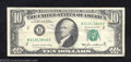 Error Notes:Ink Smears, 1981A $10 Federal Reserve Note, Fr-2026-B, Fine. Improper ...