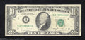 Error Notes:Ink Smears, 1985 $10 Federal Reserve Note, Fr-202-B, Very Fine. A bold ...