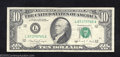 Error Notes:Ink Smears, 1988A $10 Federal Reserve Note, Fr-2029-L, Very Fine-Extremely ...