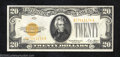 Small Size:Gold Certificates, 1928 $20 Gold Certificate, Fr-2402, Choice About Uncirculated. ...
