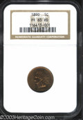 Proof Indian Cents: , 1890 PR 65 Red NGC. ...