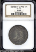 Bust Half Dollars: , 1807 Capped Bust, Large Stars VF20 NGC. ...