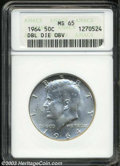 Kennedy Half Dollars: , 1964--Doubled Die Obverse--MS65 ANACS. Type One Reverse....