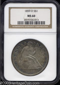 Seated Dollars: , 1859-O MS60 NGC. The current Coin Dealer Newsletter (...