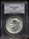 Eisenhower Dollars: , 1972-S Silver MS67 PCGS. ...
