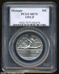 Modern Issues: , 1992-P Olympic Half Dollar MS70 PCGS. ...