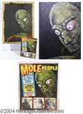 "Autographs, ""The Mole People"", Magazine Cover Painting, 1964"