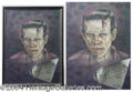 "Autographs, ""Frankenstein"" Painting with Boris Karloff Autograph"