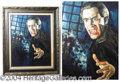 "Autographs, Christopher Lee as ""Dracula"", Oil Painting"