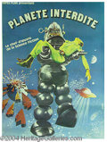 "Autographs, ""Forbidden Planet"", French Poster, 1970's Reissue"