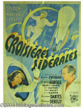 "Autographs, ""Croisieres Siderales"", French Fantasy Poster, 1942"