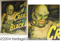 "Autographs, ""Creature from the Black Lagoon"", Six Sheet Graphic, 1954"