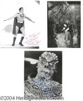 Autographs, Lot of Four Autographed Horror/Sci Fi Stills
