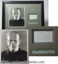 "Autographs, Boris Karloff ""Frankenstein"" Display"