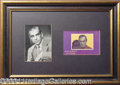 Autographs, Boris Karloff Photo Display
