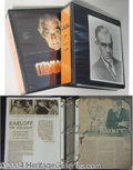 Autographs, Ackerman Archives: Boris Karloff Binders