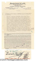 "Autographs, ""Frankenstein"", Boris Karloff Signed Contract, 1931"