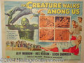 Autographs, The Creature Walks Among Us, Universal, Half Sheet, 1956