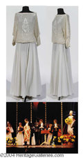 Autographs, Six Ivory Beaded and Sequin Tops with Ivory Chiffon Skirts