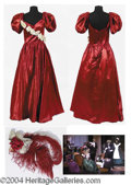 Autographs, Victorian Claret Satin Dress– has video still