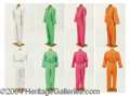 Autographs, Four Unisex Mechanics' Jumpsuits – has pic