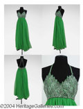 Autographs, Gay Blackstone Lime Green Chiffon Dress
