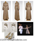 Autographs, Gay Blackstone Long Gold Sequined Dress - has video still