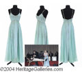 Autographs, Gay Blackstone's Long Aquamarine Gown- has pic