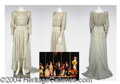 Autographs, Gay Blackstone's White Beaded Dress Bob Mackie- has pic