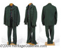 Autographs, Harry Blackstone's Olive Green Jacket and Pants
