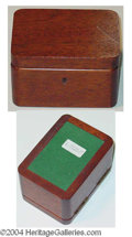 Autographs, Blackstone WOODEN WATCH BOX