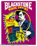 "Autographs, ""Blackstone Magic Tricks"" Cardboard Advertising Standup"