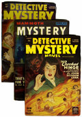 Pulps:Detective, Miscellaneous Detective Pulps (Various Publishers, 1946-51) Condition: VG.... (Total: 5)