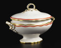 Ceramics & Porcelain, British:Modern  (1900 1949)  , An English Porcelain Soup Tureen. Unknown maker, England. 1922.Porcelain. Unmarked. 15 inches long. The ovoid form with...