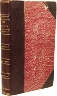 Benjamin Jonson: The Workes of Benjamin Jonson. (London: Printed by William Stansby, 1616), first collected edition, 840...