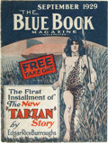 Books:Fiction, Edgar Rice Burroughs: Blue Book Magazine Premium Tarzan atthe Earth's Core. Reprinted from the September, 1929 Blue Boo...