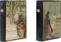 Two Bound Volumes of All-Story Weekly Pulps From 1916 With Complete Edgar Rice Burroughs Tarzan and the Jewels of Opar S...