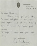 """Autographs:Military Figures, Montgomery of Alamein Autograph Letter Signed """"B.L.Montgomery,"""" one page, 6.5"""" x 8"""". Headquarters, 21 Army Group,April..."""