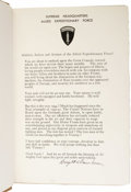 Autographs:U.S. Presidents, Dwight D. Eisenhower Signed D-Day Address in First Edition:Crusade in Europe (Garden City, New York: Doubleday &Co. In...
