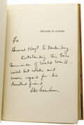 Autographs:U.S. Presidents, Dwight D. Eisenhower Signed First Edition: Crusade in Europe(Garden City, New York: Doubleday & Co. Inc., 1948), 559 pa...