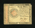 Colonial Notes:Continental Congress Issues, Continental Currency January 14, 1779 $20 Very Fine. A decentexample of this somewhat scarcer lower denomination note with ...