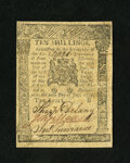 Colonial Notes:Pennsylvania, Pennsylvania July 20, 1775 10s Extremely Fine. A moderatelycirculated example of this tougher issue that has superb eye app...